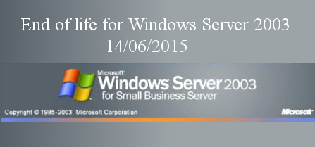 End of life for Windows Server 2003 coming soon